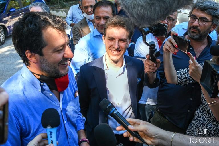 Salvini e Luigi Menduni
